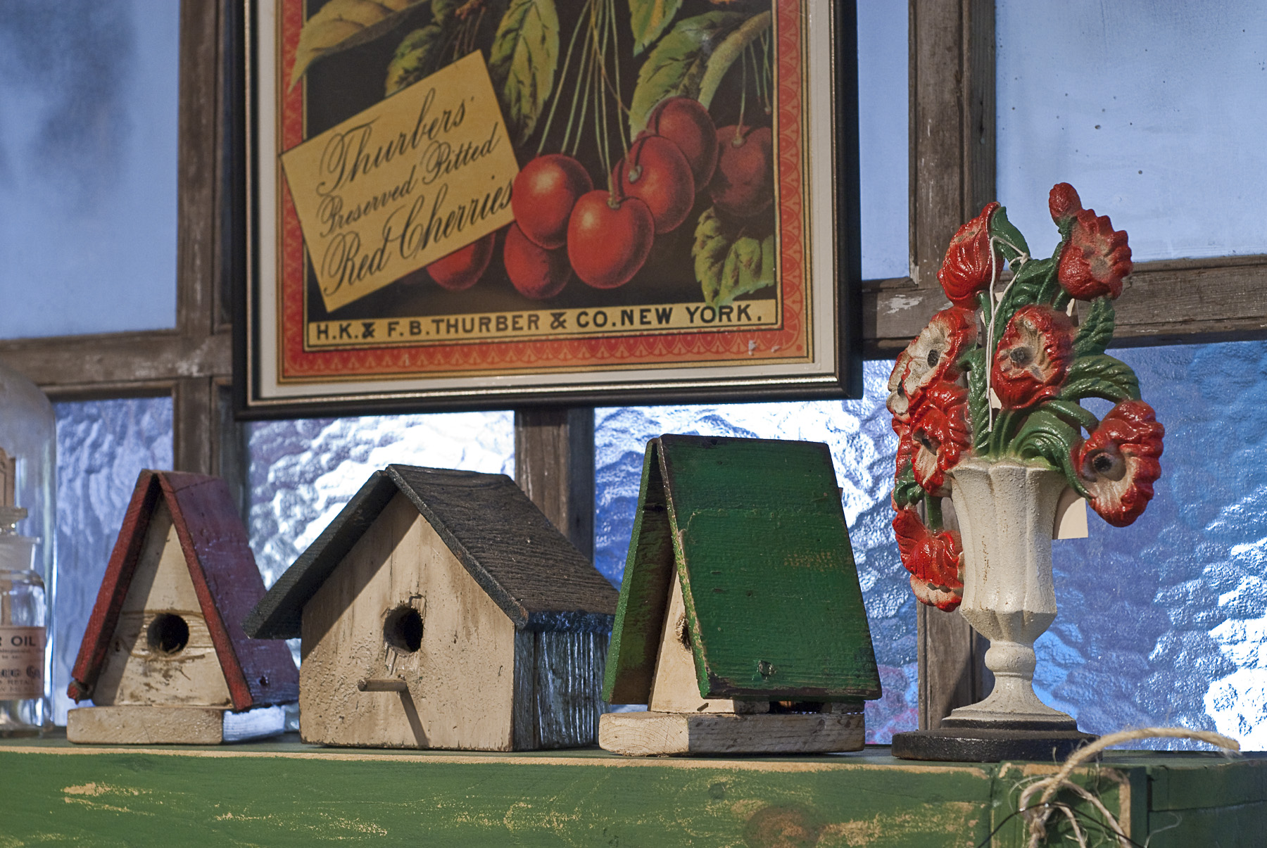 birdhouses_and_doorstop_reds_and_greens.jpg